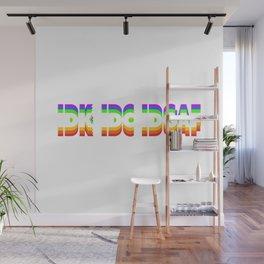 IDK IDC IDGAF Zero Fuchs Given Gift Wall Mural