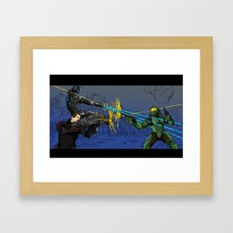 DRAW YOUR WEAPONS Framed Art Print