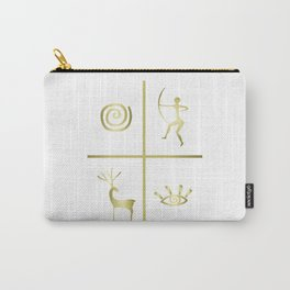 Primitive Golden Abstract Carry-All Pouch