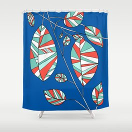 Colorful Tree Branch Drawing by Emma Freeman Designs Shower Curtain