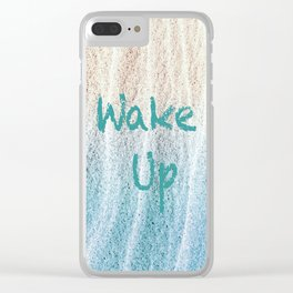 C'mon People! Wake Up! Clear iPhone Case