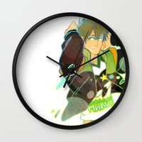 iwatobi Wall Clocks featuring Free! Club Makoto by Alyssa Tye