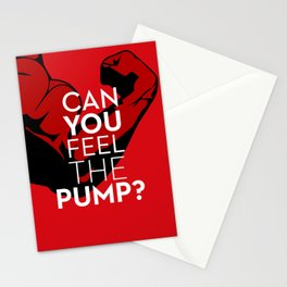 CAN YOU FEEL THE PUMP? FITNESS SLOGAN CROSSFIT MUSCLE Stationery Cards