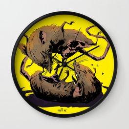 rat fight Wall Clock