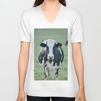 number V-neck T-shirts featuring Number 825 by Laura Ruth