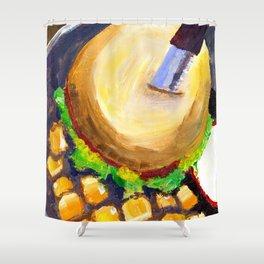 Blueplate burger Shower Curtain