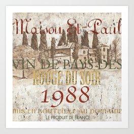 Bordeaux Blanc 1 Art Print