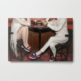 I'd like to take you on a date. Sixteen past eight Metal Print
