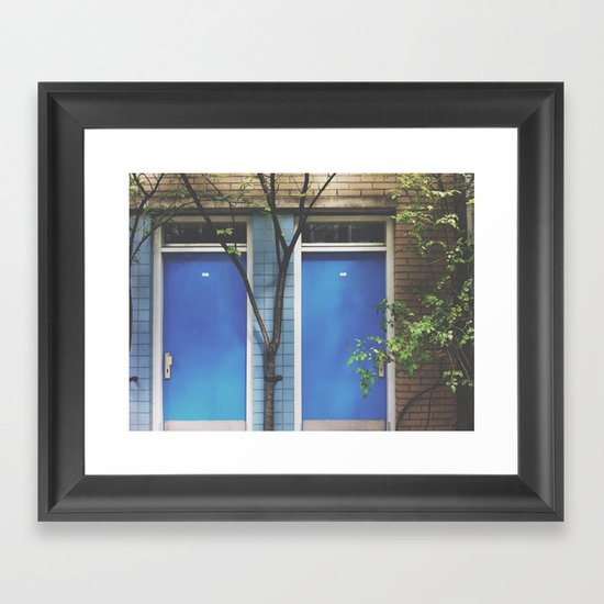Blue doors Framed Art Print