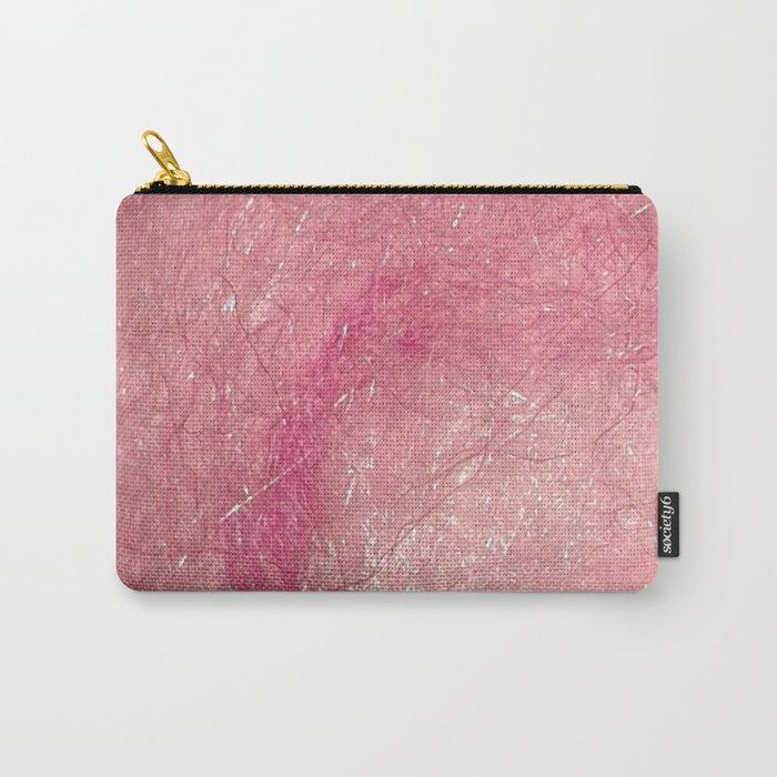 Handmade felt pink textured swirl digital photograph Carry-All Pouch