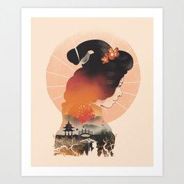 Memoirs of the Rising Sun Art Print