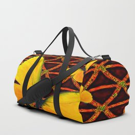 YELLOW BUTTERFLIES BROWN ART Duffle Bag