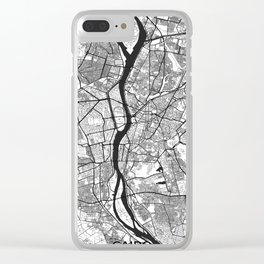 Cairo Map Gray Clear iPhone Case