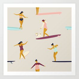 Dancers of the sea Art Print