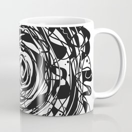 Black and White Abstraction #3 Coffee Mug