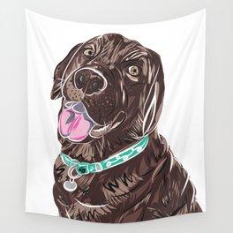 Brown Chocolate Labrador print Wall Tapestry