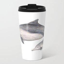 Australian humpback dolphin (Sousa sahulensis) with baby Travel Mug