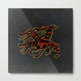 mythical dog Cerberus Metal Print