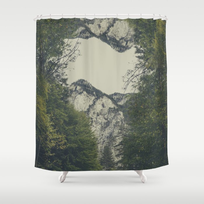 Twin Peaks Shower Curtain By Thubakabra