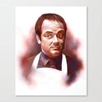 crowley Canvas Prints featuring Mr Crowley by Brooke Milton