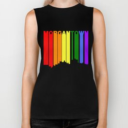 Morgantown West Virginia Gay Pride Skyline Biker Tank