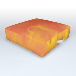 Watercolor texture - yellow and orange Outdoor Floor Cushion