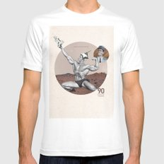 Arnie - Total Recall White SMALL Mens Fitted Tee