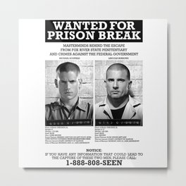 Prison Break Metal Print
