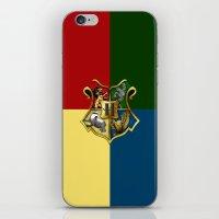 hogwarts iPhone & iPod Skins featuring HOGWARTS - HOGWARTS by alexa