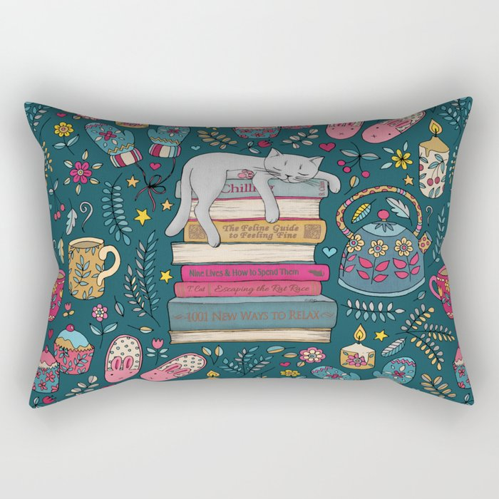 How to Hygge Like a Cat Rectangular Pillow