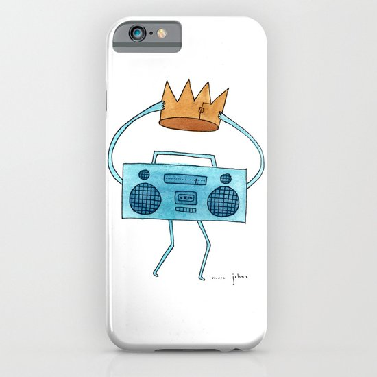 boombox holding a paper crown iPhone & iPod Case