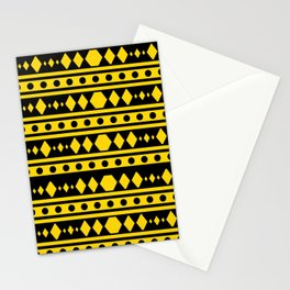 Tribal Yellow Pattern Stationery Cards