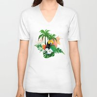 toucan V-neck T-shirts featuring Toucan by nicky2342