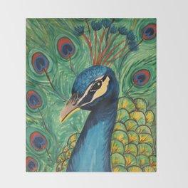 Peacock Pride Throw Blanket