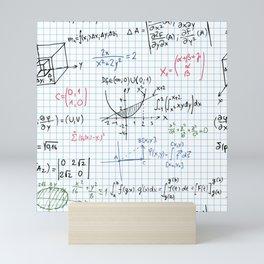 Mathematical formula, science pattern Mini Art Print