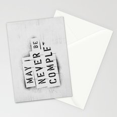 NEVER BE COMPLF Stationery Cards
