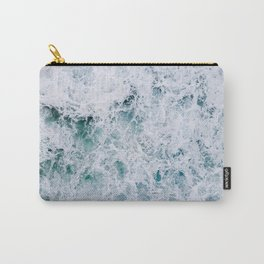 Waves in an abstract white and blue seascape Carry-All Pouch