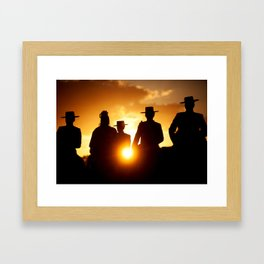 Golden pilgrims Framed Art Print