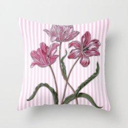 Maria Sibylla Merian: Three Tulips Throw Pillow