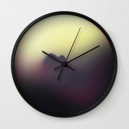 The Dog Dreams In Color For Two Nights Wall Clock