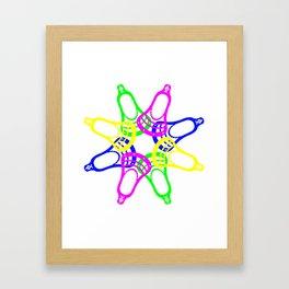 Lacrosse Neon Heads Framed Art Print