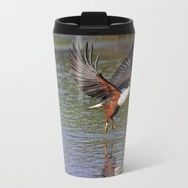 African fish eagle fishing in a river - Africa wildlife Travel Mug