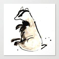 Sitting Badger Canvas Print