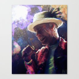 The Silver Poet Canvas Print