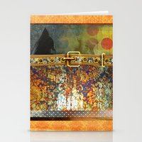 western Stationery Cards featuring GOLDEN WESTERN by INA FineArt