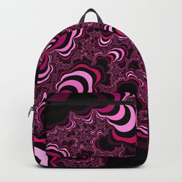 Pink abstract pattern. Striped pattern. Backpack