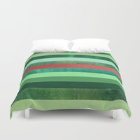 watermelon Duvet Covers featuring Watermelon by Elisabeth Fredriksson