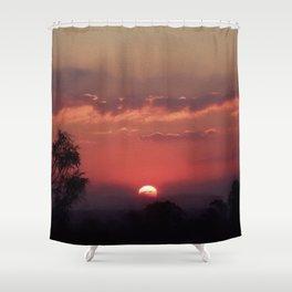 Sweet Pink Orange Sunset Shower Curtain