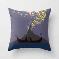 tangled Throw Pillows featuring Tangled by TheWonderlander