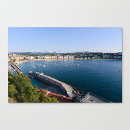 La Concha Bay. Donostia-San Sebastian, Spain. Canvas Print
